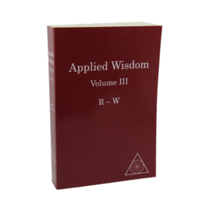 Applied Wisdom: Volume III (R-W) by Lucille Cedercrans