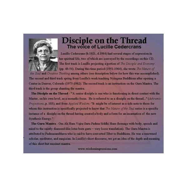 disciple on the thread - the voice of lucille cedercrans cd
